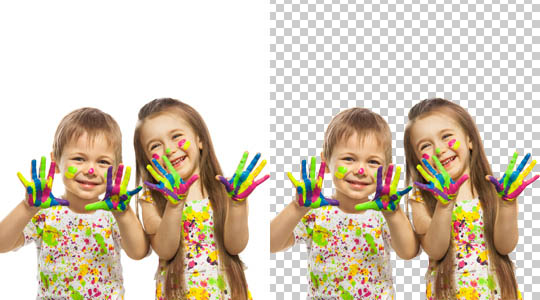 Image transparent background and clipping path